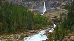 Twin Falls Yoho National Park Stock Footage