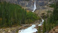Stock Video Footage of Twin Falls Yoho National Park