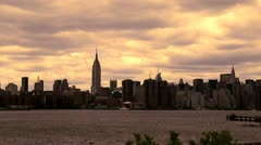 NY Empire State Bldg LS Time Lapse - stock footage