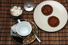 Tea and cookie Stock Photos
