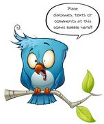 Blue Bird Freaking Out Stock Illustration