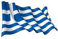 Flag of Greece - stock illustration