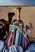 Stock Photo of saddle in sahara
