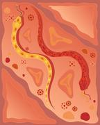 Australian snake design Stock Illustration
