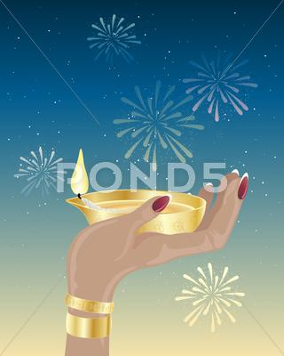Stock Illustration of diwali candle