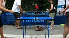 Ping Pong pöytätennis pelaa Arkistovideo
