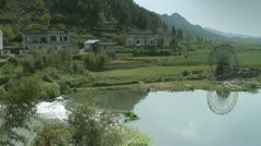 Chinese village Stock Footage