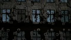 Windows video projection art Stock Footage