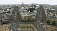 Paris Vista Winter Day Stock Footage