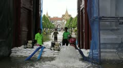 Grand Palace flood 0764 Stock Footage