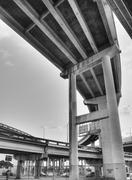 inner city bridges - stock photo