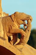 elephants on hinduism temple - stock photo