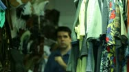 Stock Video Footage of walk in closet big clothing choose