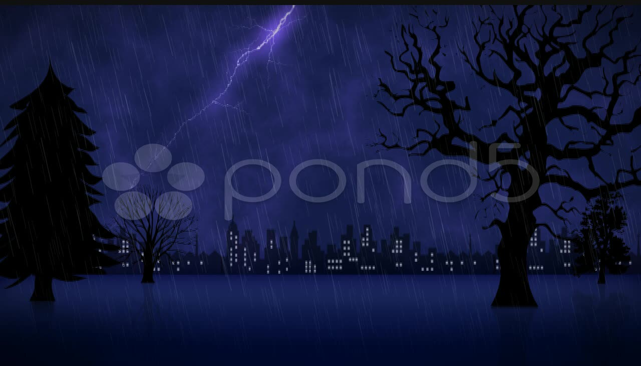 After Effects Project - Pond5 Stormy Night Animation 20601324