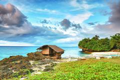 fisherman hut - stock photo