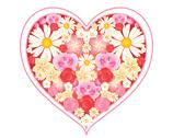 Floral love heart Stock Illustration