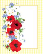 wildflower border - stock illustration
