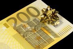banknote of 200 euro - stock photo