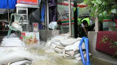 Grand Palace flood 0659 - stock footage
