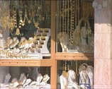 Stock Video Footage of DUBAI gold jewelry shop window