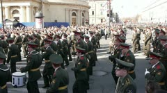 Victory day celebration in Saint Petersburg, Russia Stock Footage
