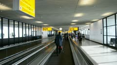 Amsterdam Airport Schiphol on January 31, 2013 in Amsterdam, Netherlands, - stock footage