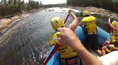 White water rafting Stock Footage