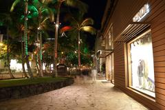 Kalakaua Avenue honolulu Night - stock photo