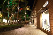 Stock Photo of Kalakaua Avenue honolulu Night