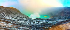 Crater ijen Stock Photos