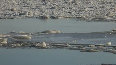 Boat on ice Stock Footage