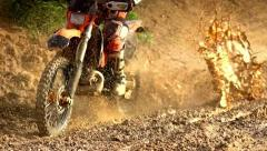 Morocross Through Mud Stock Footage