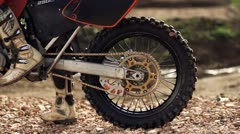 Motocross Wheel Spin Stock Footage