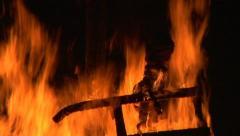 witch burn slow 06 - stock footage