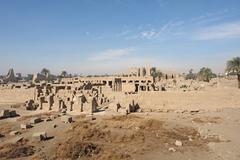 precinct of amun-re in egypt - stock photo