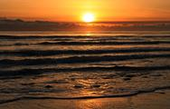 Stock Photo of Classic sunset at the beach.