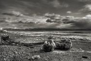 Stock Photo of Icy Alaskan beach scene