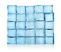 figures from ice cubes isolated - stock photo