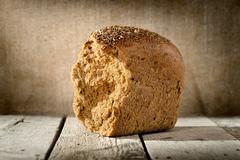 loaf of rye bread - stock photo