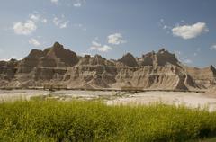 Badlands in South Dakota - stock photo