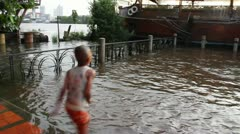 China Town flood 0253 Stock Footage