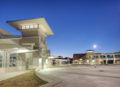 Courtyard at High School Stock Photos