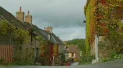 Normandy village -slow zoom Stock Footage