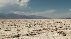 Badwater Basin (Dried Salt Lake) at Death Valley NP. California-Nevada, USA. Stock Footage