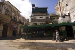 Habana Street market - stock photo