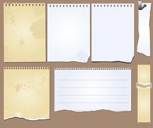 Grunge scrapbook elements tablet paper Stock Illustration