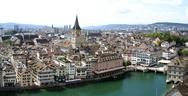 Stock Photo of Aerial panorama of Zurich