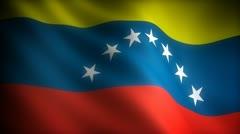 Flag of Venezuela Stock Footage