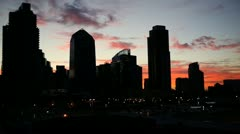 Downtown Sunset Stock Footage