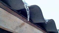 Thaw weather with icicles 1080p Stock Footage